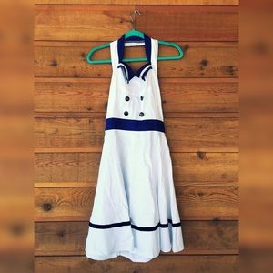 Super cute pin-up, sailor dress!